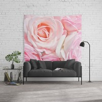 pink roses Wall Tapestry by sylviacookphotography