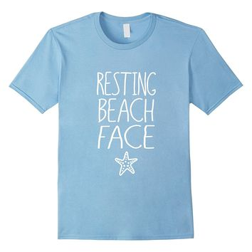 Resting Beach Face Starfish- Sunset Sand Beach Life Shirt