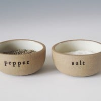 salt and pepper cellars small by paulova on Etsy