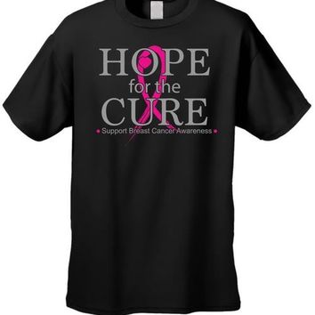Unisex T Shirt Breast Cancer Awareness Hope for