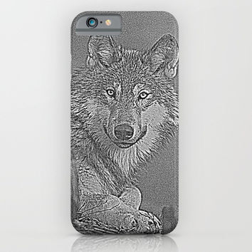 Wolf iPhone & iPod Case by Knm Designs