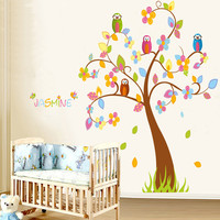 Owl Nursery Wall Decal