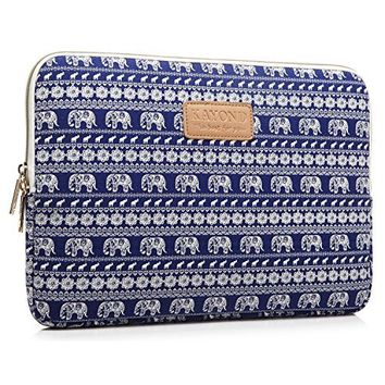 KAYOND Elephant Patterns Canvas Fabric 15 Inch Laptop / Notebook Sleeve Macbook / Macbook Pro / Macbook Air Sleeve Case Dell / Hp /Lenovo/sony/ Toshiba / Ausa / Acer /Samsung /Haier Ultrabook Bag Cover (15.6)