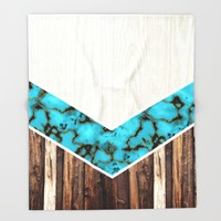 CHEVRON Throw Blanket by Oksana Smith