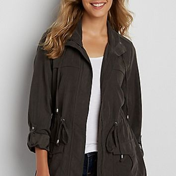 faux suede anorak jacket | maurices