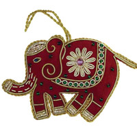Red Elephant Ornament - India