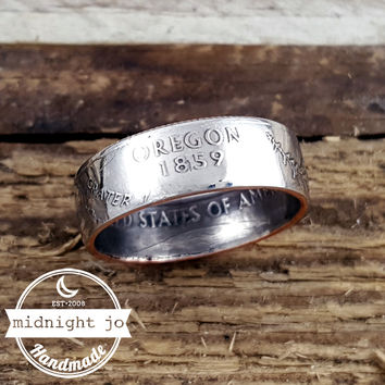 Oregon State Quarter Coin Ring