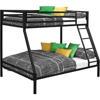 Kids Twin-over-Full Metal Bunk Bed Childrens Bedroom Furniture