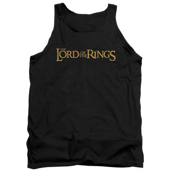 Lor - Lotr Logo Adult Tank Top Officially Licensed Apparel