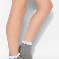 Textured Crochet Ruffle Crew Sock - Urban Outfitters