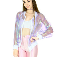 CLEAR HOLOGRAM JACKET