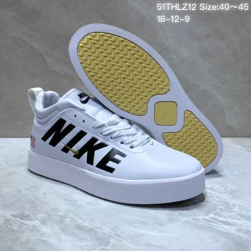 HCXX N690 Nike Tiempo Vetta 17 Big Letter US Mid Leather Casual Skate Shoes White