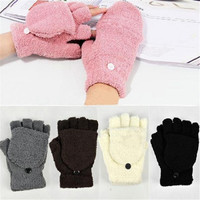 Hot Fashion Women's Ladies Hand Wrist Warmer Winter Fingerless Gloves = 1946556548
