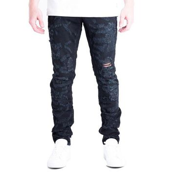 ONETOW Embellish NYC Erika Jeans In Black