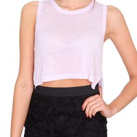 Gracefully Done Knit Crop Top - Lavender