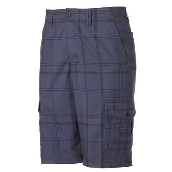 Tony Hawk Plaid Microfiber Cargo Shorts - Men, Size: