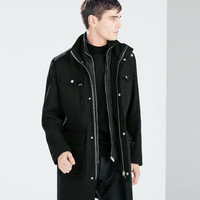Zipped short coat