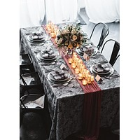 Modern Table Linen | Black Table Linen Wedding