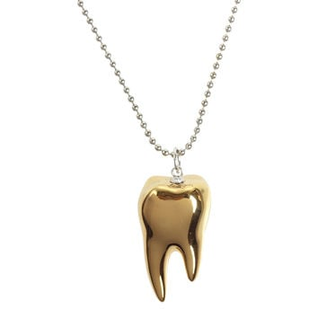 Antlitz: Wisdom Tooth Necklace Golden