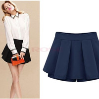 New Summer Lady Women's Casual Chiffon  New Fashion Sexy Short Pantskirt = 1745537732