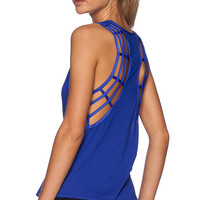 koral activewear Web Tank in Blue