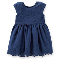 Eyelet Scalloped Easter Dress