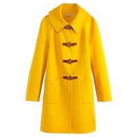 Michael Kors: Yellow Turn Lock Coat