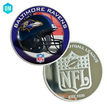 BALTIMORE RAVENS 999.9 Silver Plated Challenge Coin US NFL Metal Coin Art Ornament Creative Souvenir Coin