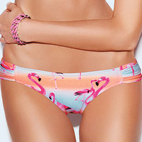 Ruched-side Bikini Bottom - PINK - Victoria's Secret