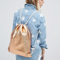 Mi-Pac Kit Bag Metallic Rose Gold at asos.com