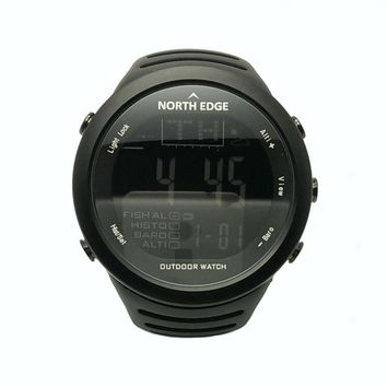 NORTHEDGE Men Sports Hiking Outdoors Digital Watch Fishing Altimeter Running Weather Thermometer Climbing Clock Smart Hour NE1.