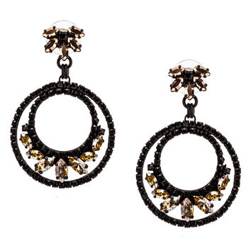 Sparkling Round Drop Earrings by LK Designs
