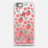 Cherry Bomb Strawberry Hearts iPhone 6s case by Sassquatch | Casetify