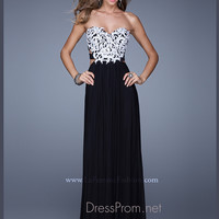 Strapless Sweetheart La Femme Formal Prom Gown 20861