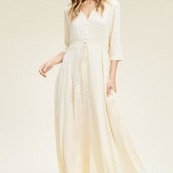 Traveler Bohemian Maxi Dress - Cream