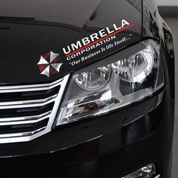 Cool Resident Evil The Umbrella Chronicles Car sticker Covers on Car Lights Brow Decal Universal Car Styling Stickers