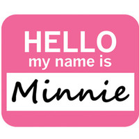 Minnie Hello My Name Is Mouse Pad