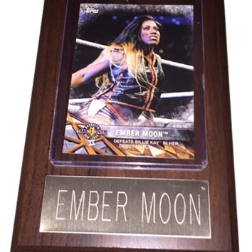 "Ember Moon 4"" x 6"" WWE Women's Wrestling Plaque"