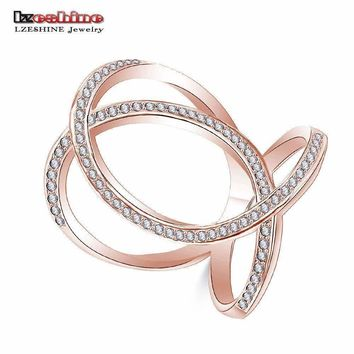 LZESHINE Exquisite Crown Princess Ring Silver Color Cz Stone Rings for Women Fashion Aneis De Ouro Jewelry CRI1060