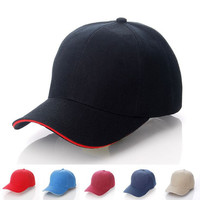 Baseball Army Cap Blank Plain Solid Sports Visor Sun Golf ball Hat Men