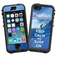 """Keep Calm and Surf On """"Protective Decal Skin"""" for LifeProof nuud iPhone 5s Case"""