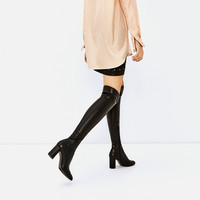 OVER-THE-KNEE HIGH HEEL CAP TOE BOOTSDETAILS