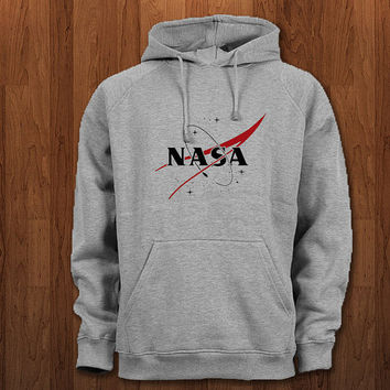 nasa red logo Hoodie for size s-3xl, for color black, white, gray, and red