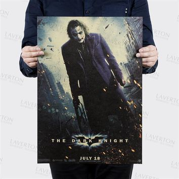 Vintage Style Retro Paper Poster home wall decration Good Gifts THE JOKER OF Wall Sticker part 51*35.5cm