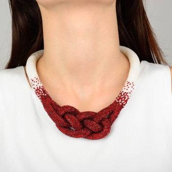 Handmade jewellery beaded necklace for women designer jewelry gifts for girls
