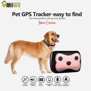 Long Standby Time Pet Intelligent GPS+LBS Trackers Water-resistant Remote Calling Voice Monitor Geo-fence Tracker For Cat Dog