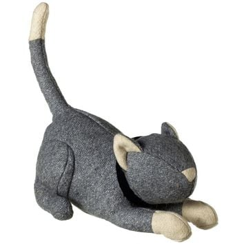 Gray Cat Door Stop