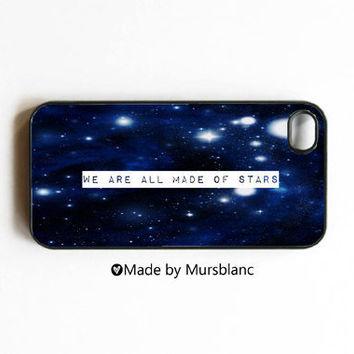 "iPhone 4 Case ""We Are All Made Of Stars"""