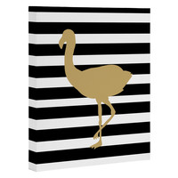 Allyson Johnson Classy Flamingos Art Canvas