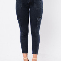 Chase The Sun Jeans - Blue Black